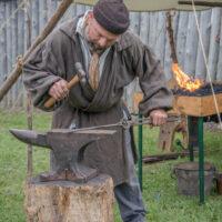 blacksmith Voyageurs at Grand Portage MN