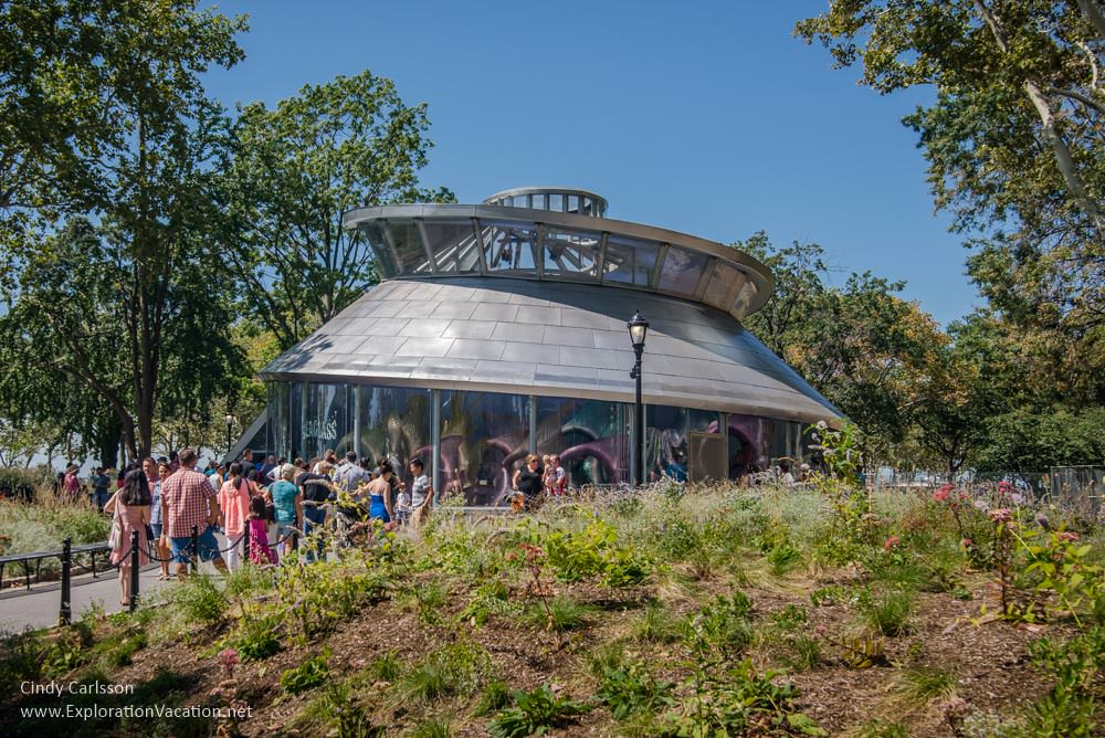 Sea Glass Carousel building Battery Park NYC