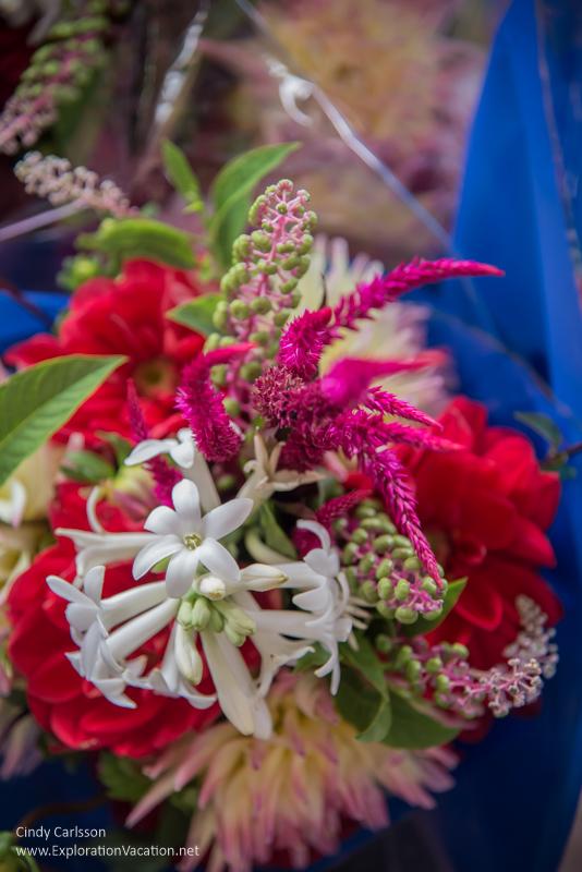 flowers at the Saint Paul farmers market Minnesota
