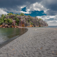 Black Sand Beach Lake Superior
