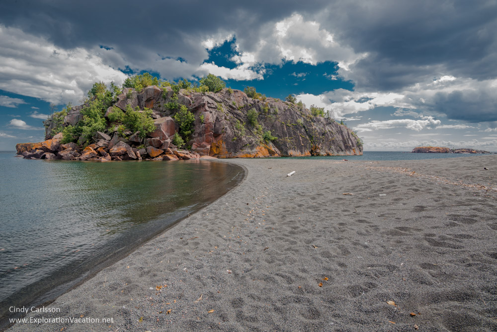 Black Beach on Lake Superior 's North Shore in Silver Bay, Minnesota - ExplorationVacation #Minnesota #beach #LakeSuperior #USA