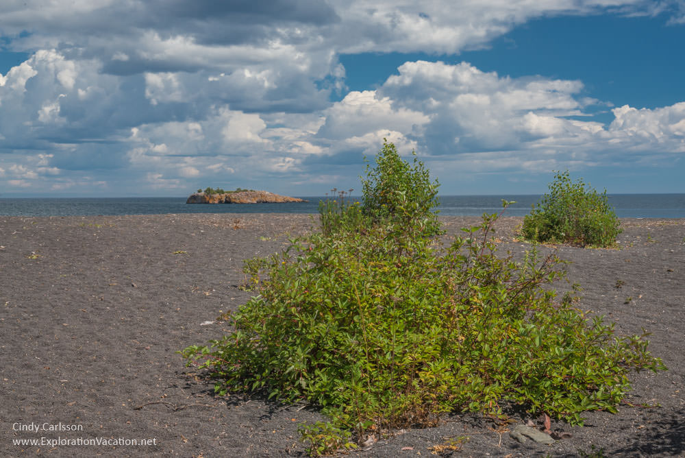 Black Beach on Lake Superior 's North Shore in Silver Bay, Minnesota - ExplorationVacation #Minnesota #beach #LakeSuperior