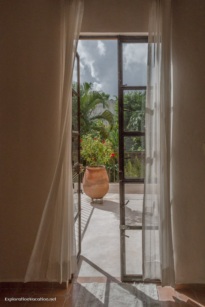 View from bedroom - house tour in Merida