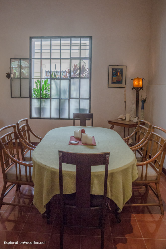 dining room - house tour in Merida