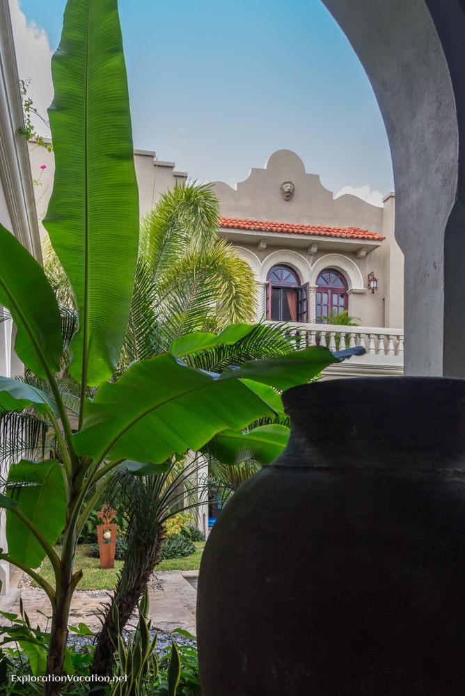 second courtyard and master bedroom La Calle Escondida Merida