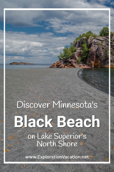 Discover Black Beach on Lake Superior 's North Shore in Silver Bay, Minnesota - ExplorationVacation #Minnesota #beach #LakeSuperior #USA