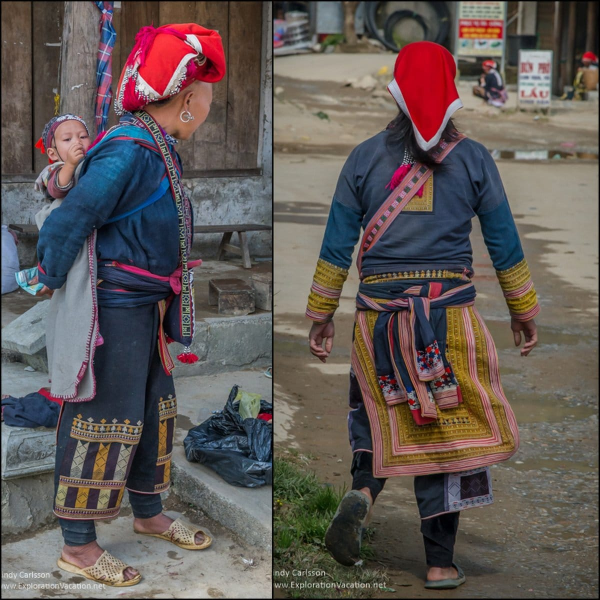 Red Dao women TaPhin village