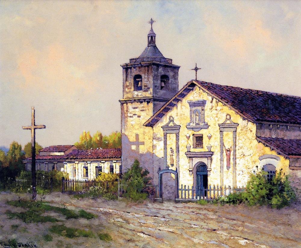 1899 Deakin painting of Santa Clara Mission