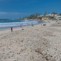 long sandy beach
