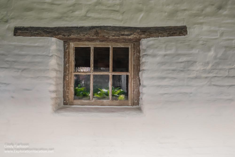 window at Mission Santa Clara de Asís