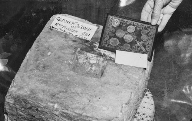 cornerstone from 2nd Santa Clara mission