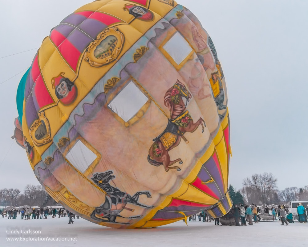 hot air balloon with carousel horses