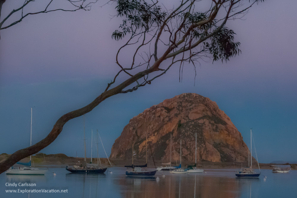 Morro Rock at sunrise