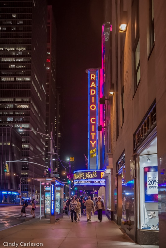 Radio City entrance