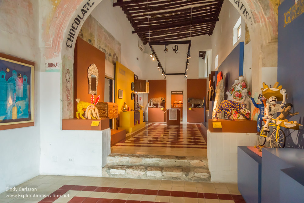 view of gallery in Izamal Mexico