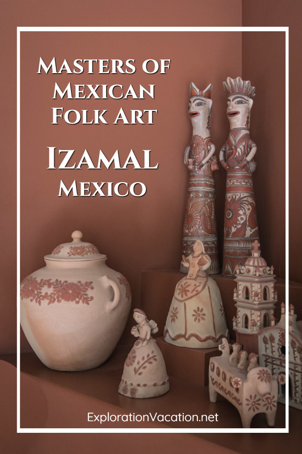 """Pottery and text """"Masters of Mexican Folk Art"""""""