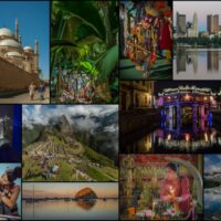 travel photography mosaic - ExplorationVacation