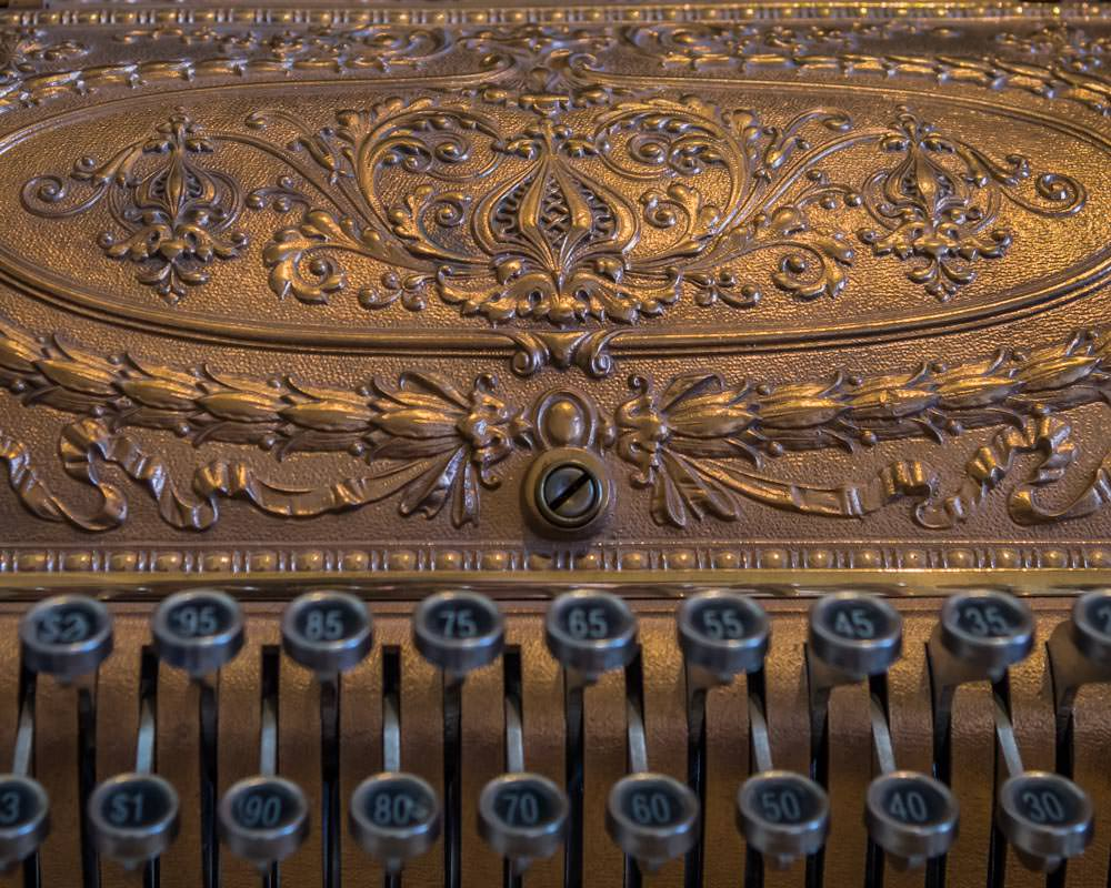 copper cash register at the Copper Art Museum Clarkdale AZ - ExplorationVacation.net