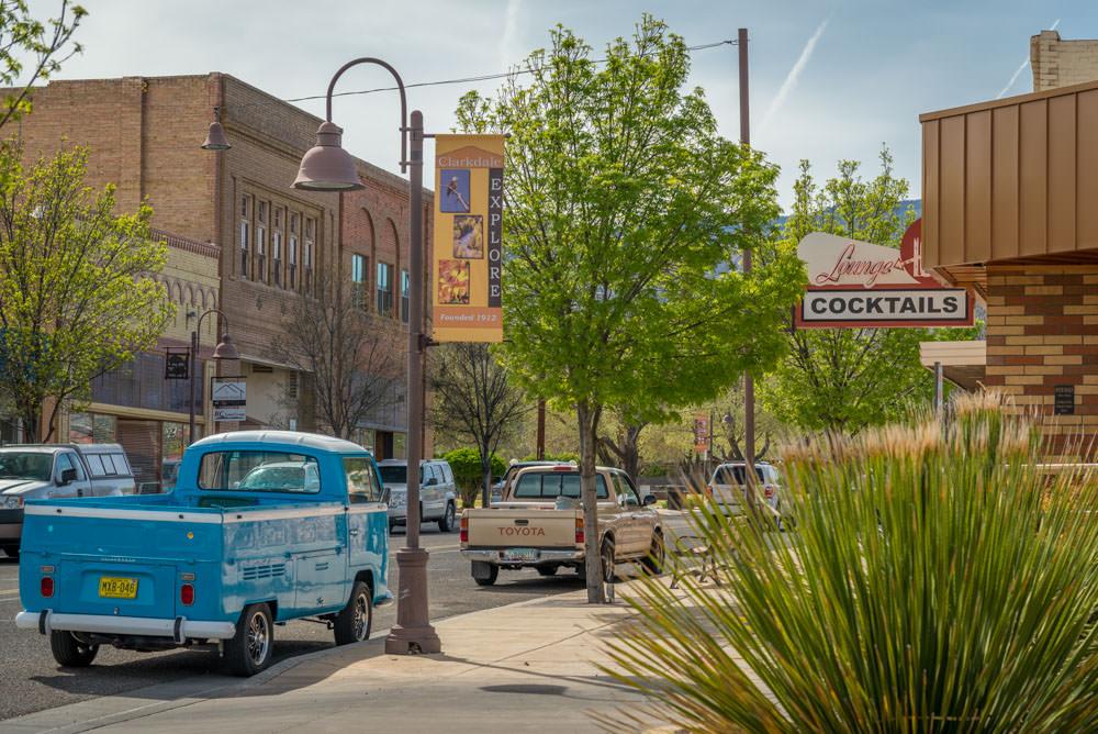 downtown Clarkdale AZ street scene