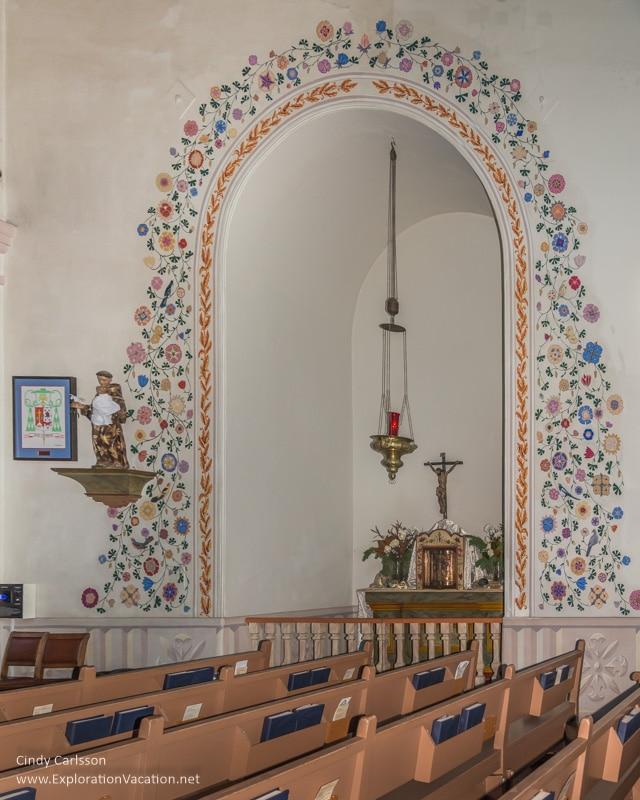 side altar Mission San Luis Obispo California -ExplorationVacation