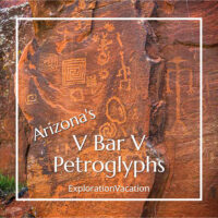 "rock carvings with link to post ""Arizona's V Bar V Petroglyphs"""