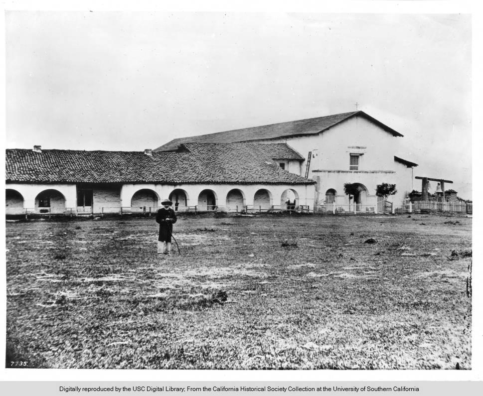 Mission San Juan Bautista in 1875