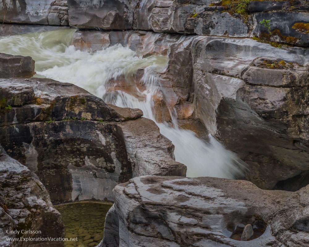cascade Maligne Canyon in Jasper Canada - ExplorationVacation.net