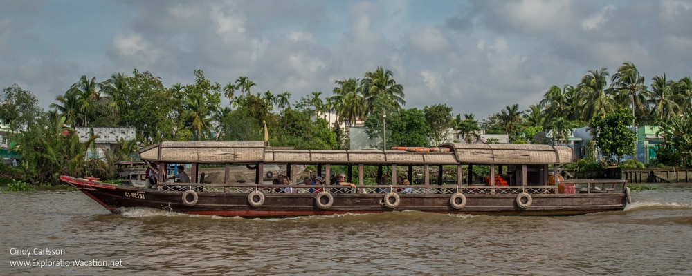 tour boat Mekong Delta Vietnam - ExplorationVacation.net