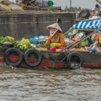 food for sale Cai Rang market Mekong Delta Vietnam - ExplorationVacation.net