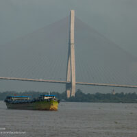 Can Tho Bridge Vietnam from the water ExplorationVacation