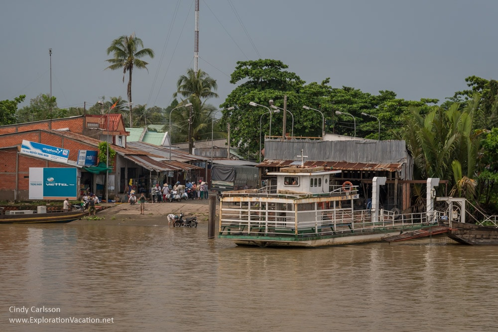 ferry station in the Mekong Delta Vietnam - ExplorationVacation.net