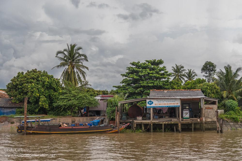 Gas station in the Mekong Delta Vietnam - ExplorationVacation.net