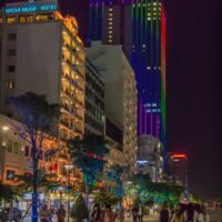 Office towers along Nguyen Hue in Saigon Vietnam - ExplorationVacation.net