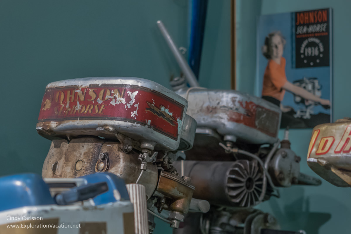 Vintage boat motors Koochiching County Museums MN - ExplorationVacation.net