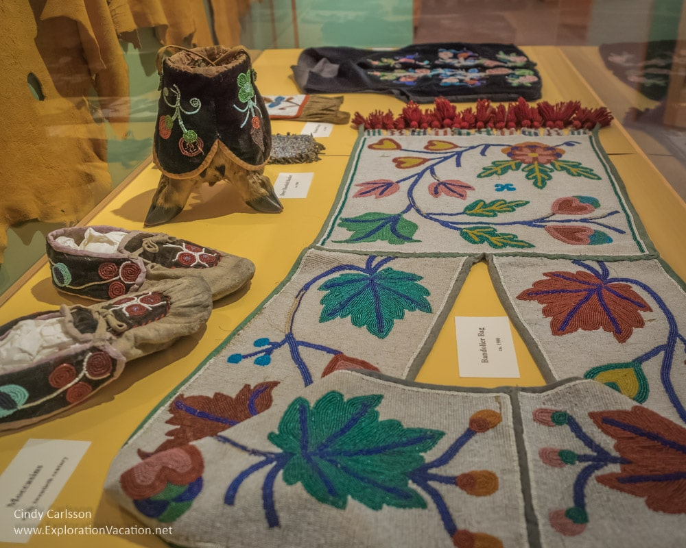 Native American beadwork Koochiching County Museums MN - ExplorationVacation.net