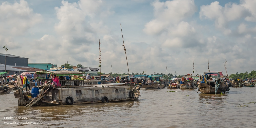 Cai Rang floating market Vietnam - ExplorationVacation.net