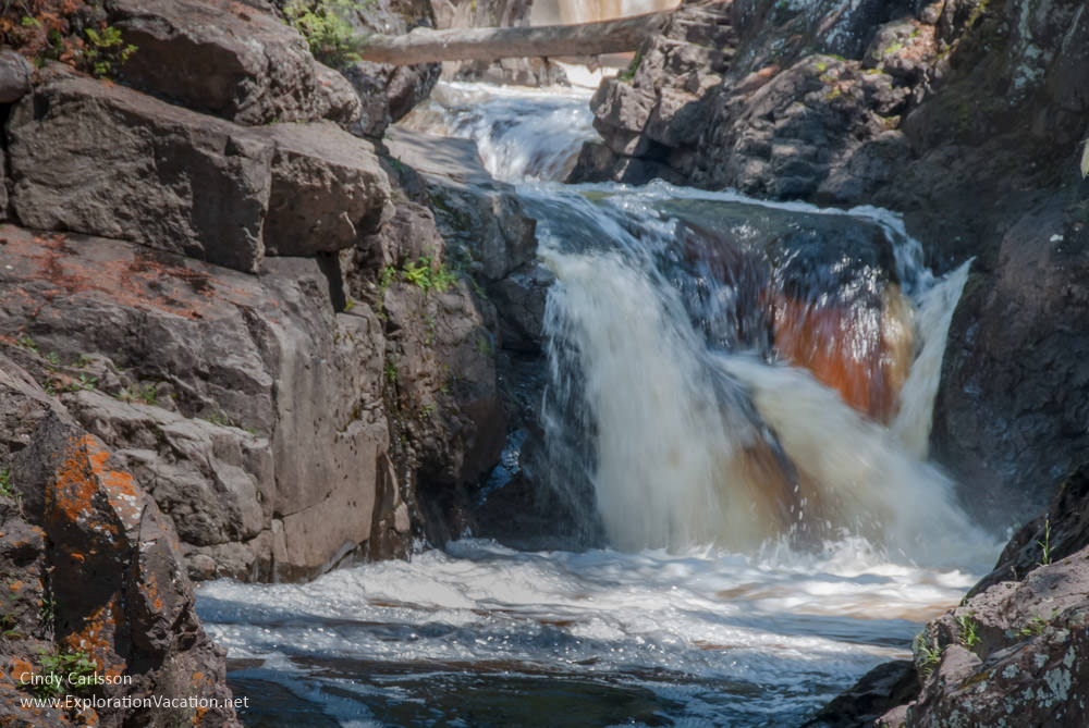 waterfalls at Cascade River State Park Minnesota - www.ExplorationVacation.net