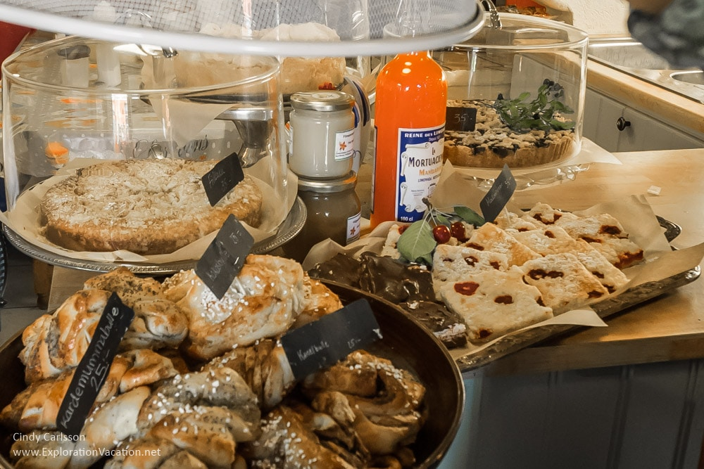 baked goods at Grassagården Cafe Strängnäs Sweden - www.ExplorationVacation.net