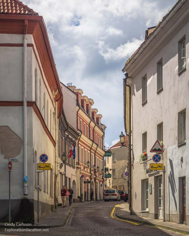 Street in Vilnius Lithuania Old Town - www.ExplorationVacation.net