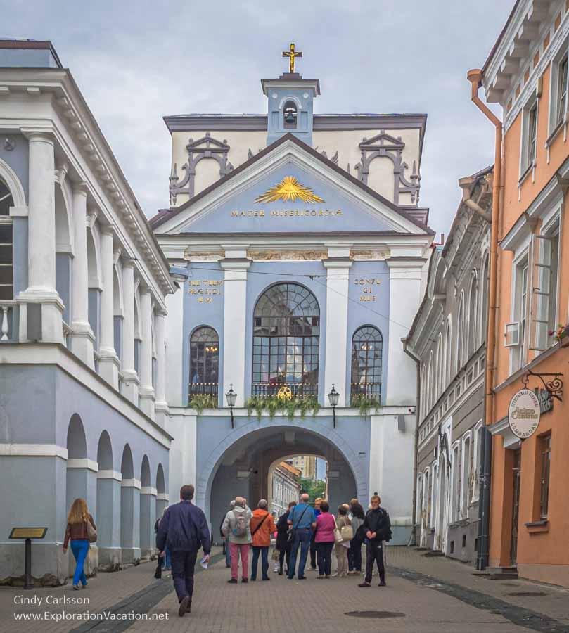 Gates of Dawn Vilnius walking tour Lithuania Old Town - www.ExplorationVacation.net