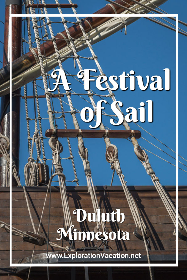 "tall ship rigging detail with text ""A Festival of Sail"""