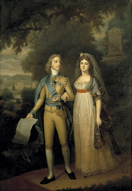 Swedish King Gustav IV Adolf and Frederica