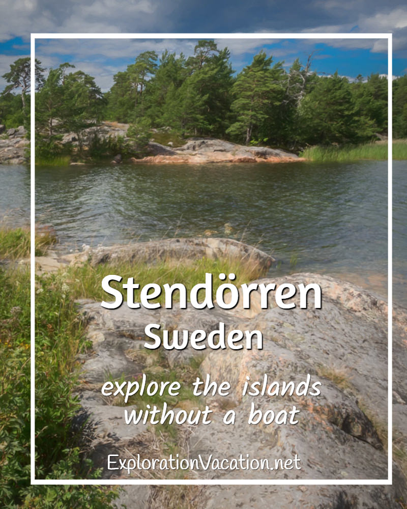 Title text for Stendorren nature reserve wit rocks, water, and forest