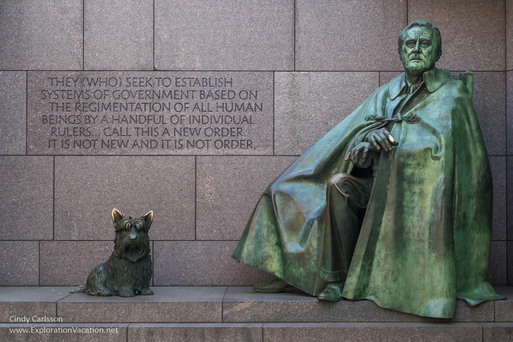 Franklin Delano Roosevelt FDR Memorial Washington DC -- www.ExplorationVacation.net