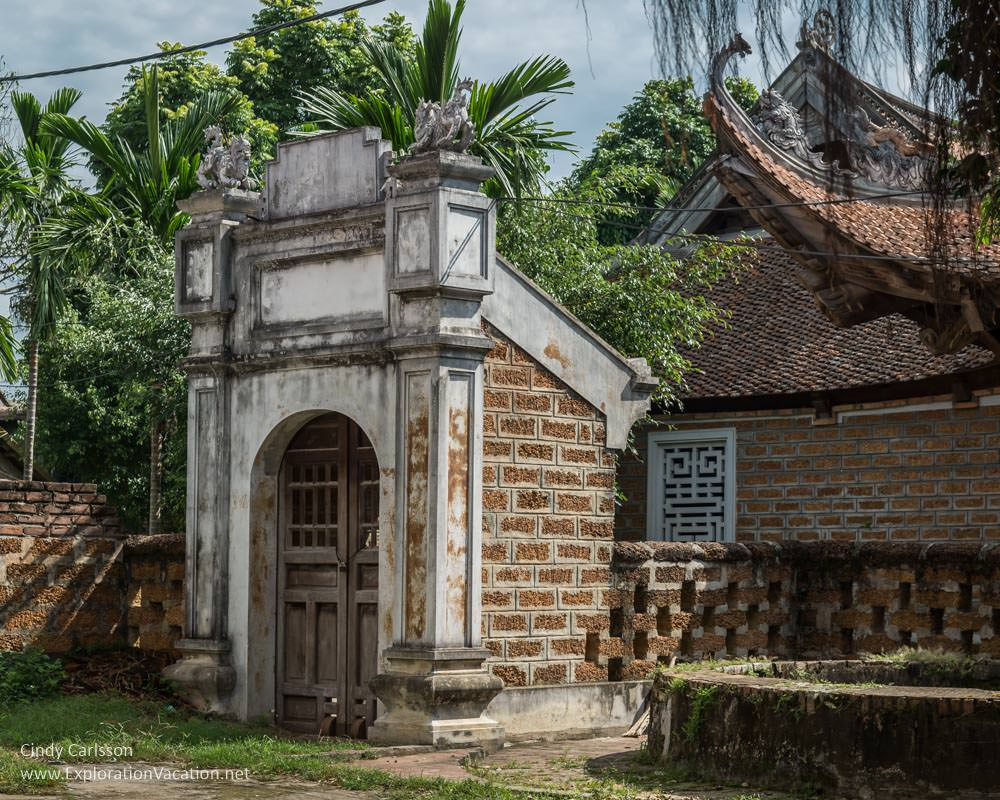 Laterite buildings Duong Lam ancient village Vietnam - ExplorationVacation