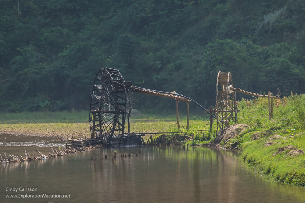 waterwheels south of Bao Lac in Northern Vietnam - ExplorationVacation