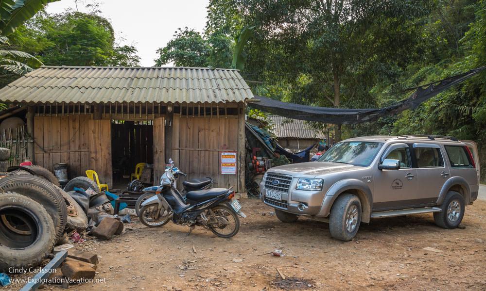 local garage Northern Vietnam - ExplorationVacation