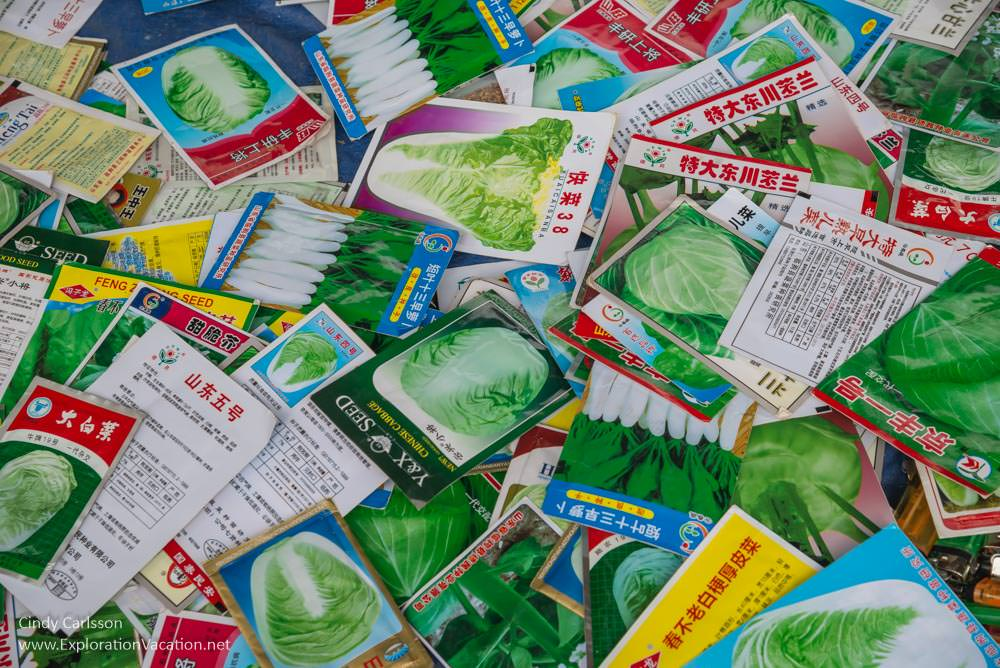 seed packages market Northern Vietnam road trip - ExplorationVacation