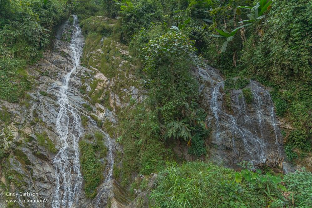 waterfall mountain scenery Northern Vietnam road trip - ExplorationVacation