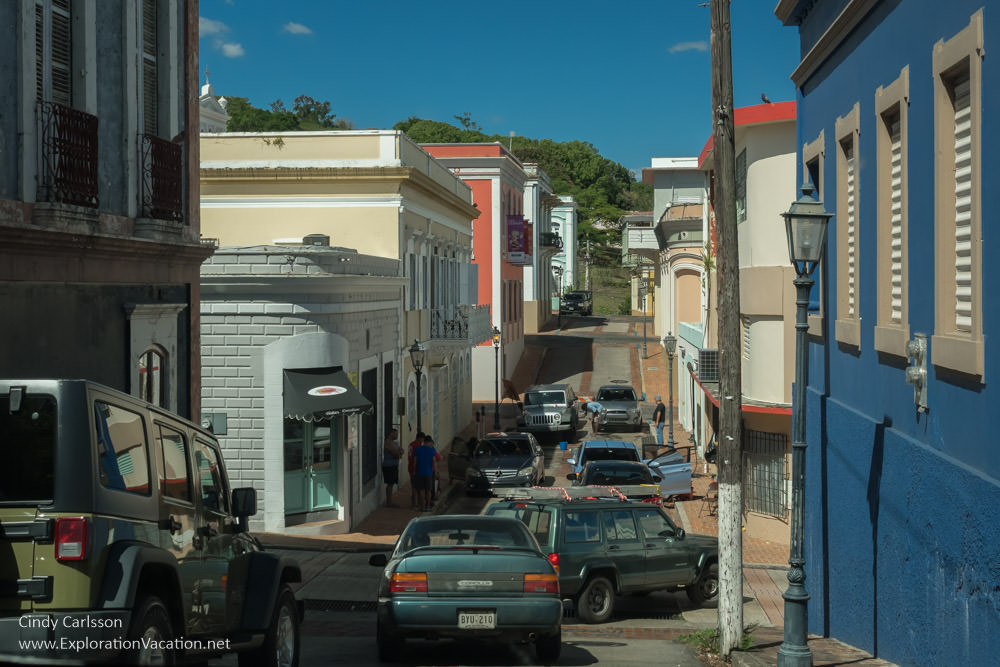 street in historic San German Puerto Rico - www.ExplorationVacation.net